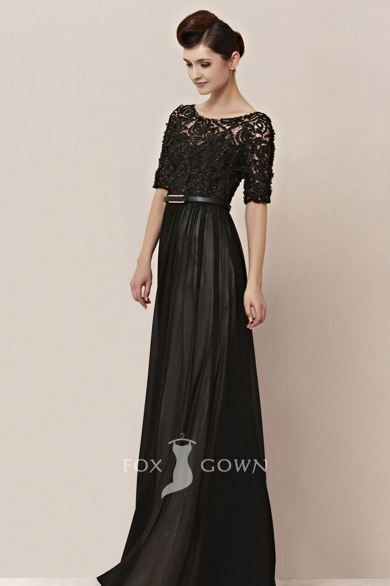 formal dress with sleeves - Dress Yp