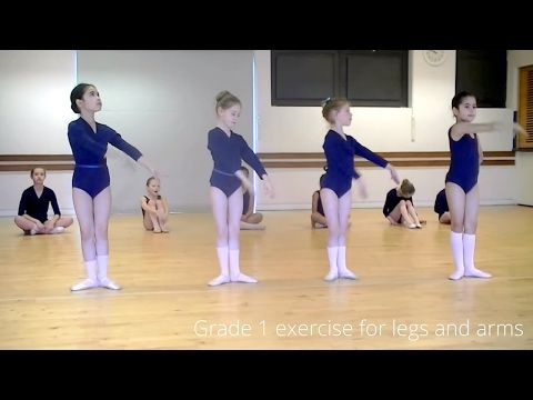Ballet class video age 6-7 year olds (Grade 1 Ballet RAD) - YouTube