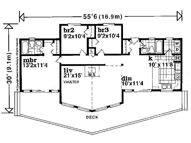 Floor Plan Cabin House Plans A Frame House Plans House Plans