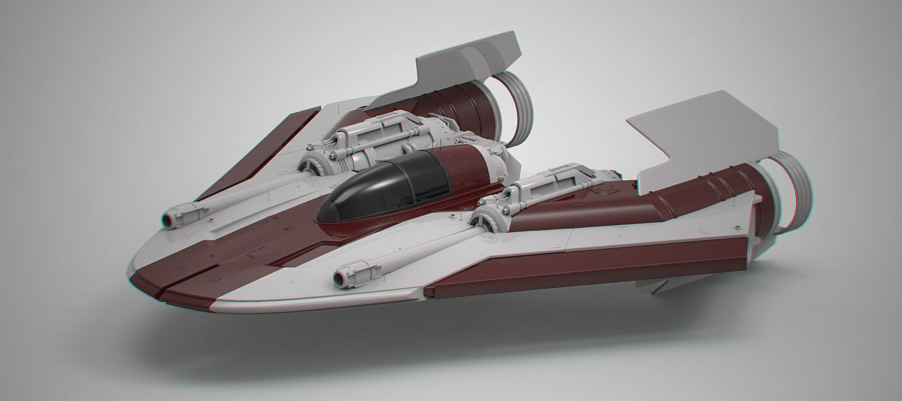 61df5f036 A-Wing redisign by Andrew Hodgson. Keywords: star wars concept a-wing  redesign plane ship spaceship craft model technical art ill.