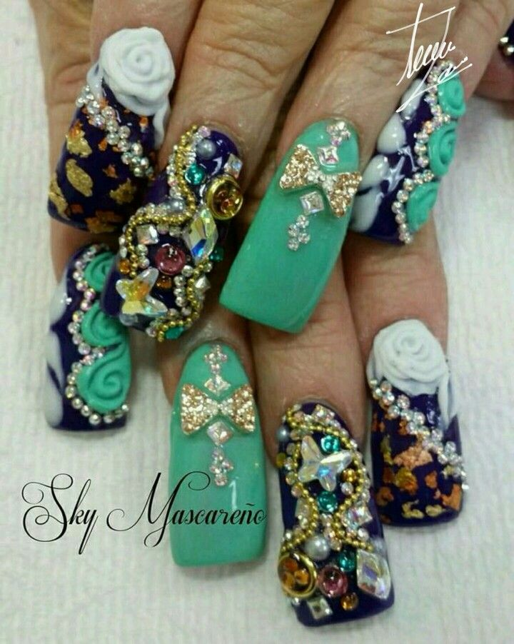 Nail art 》   uñas estilo sinaloa T.M.M :)   Pinterest   Nail nail ...