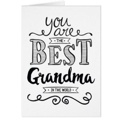 Best Grandma in the World Birthday Card | Zazzle.com