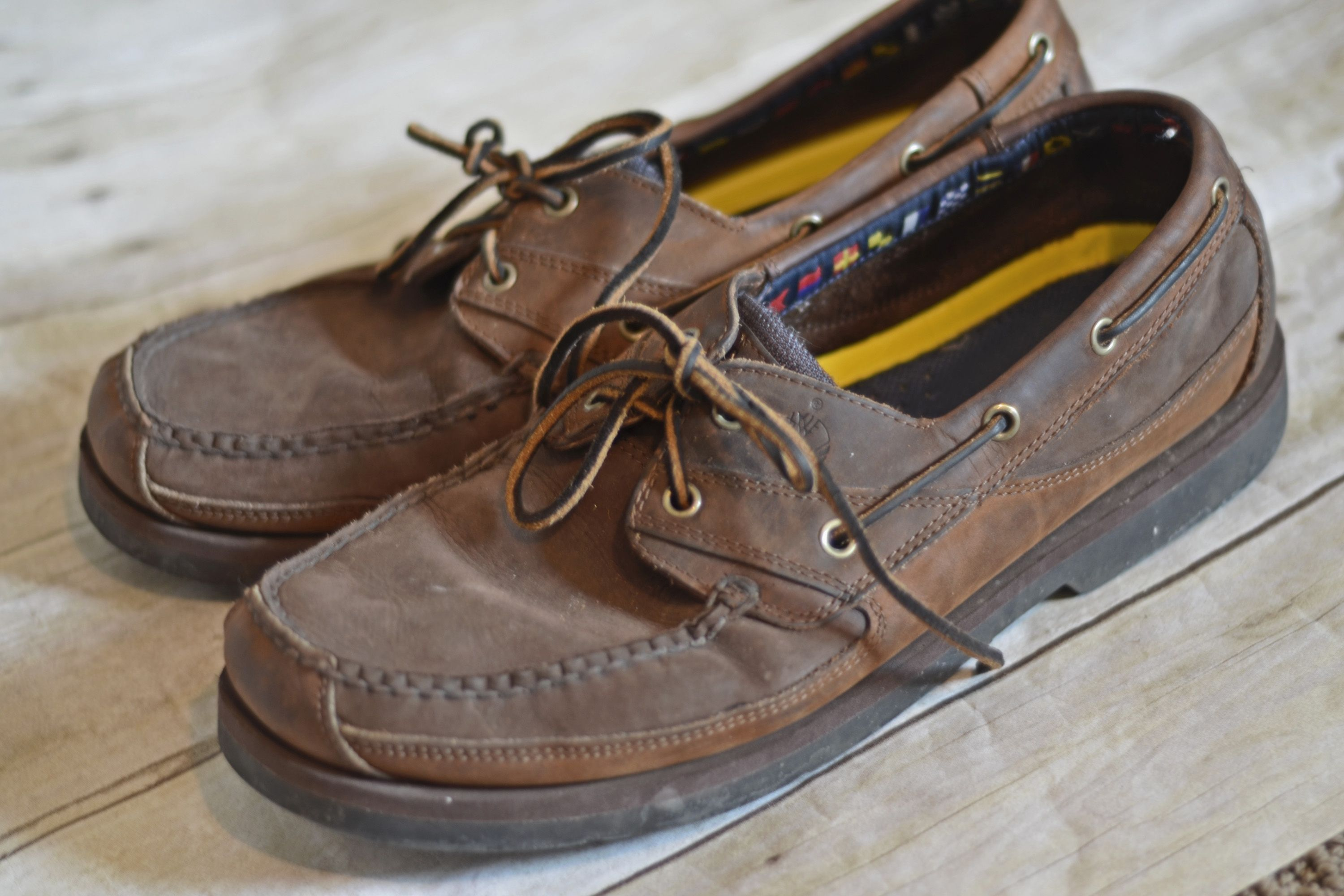 e743453cb6c The leather laces on moccasins never seem to stay tied. Try this easy