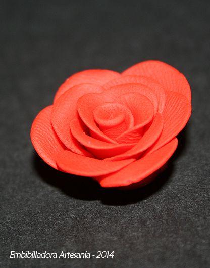 Rosa de arcilla polimérica para hacer anillos, pendientes o colgantes