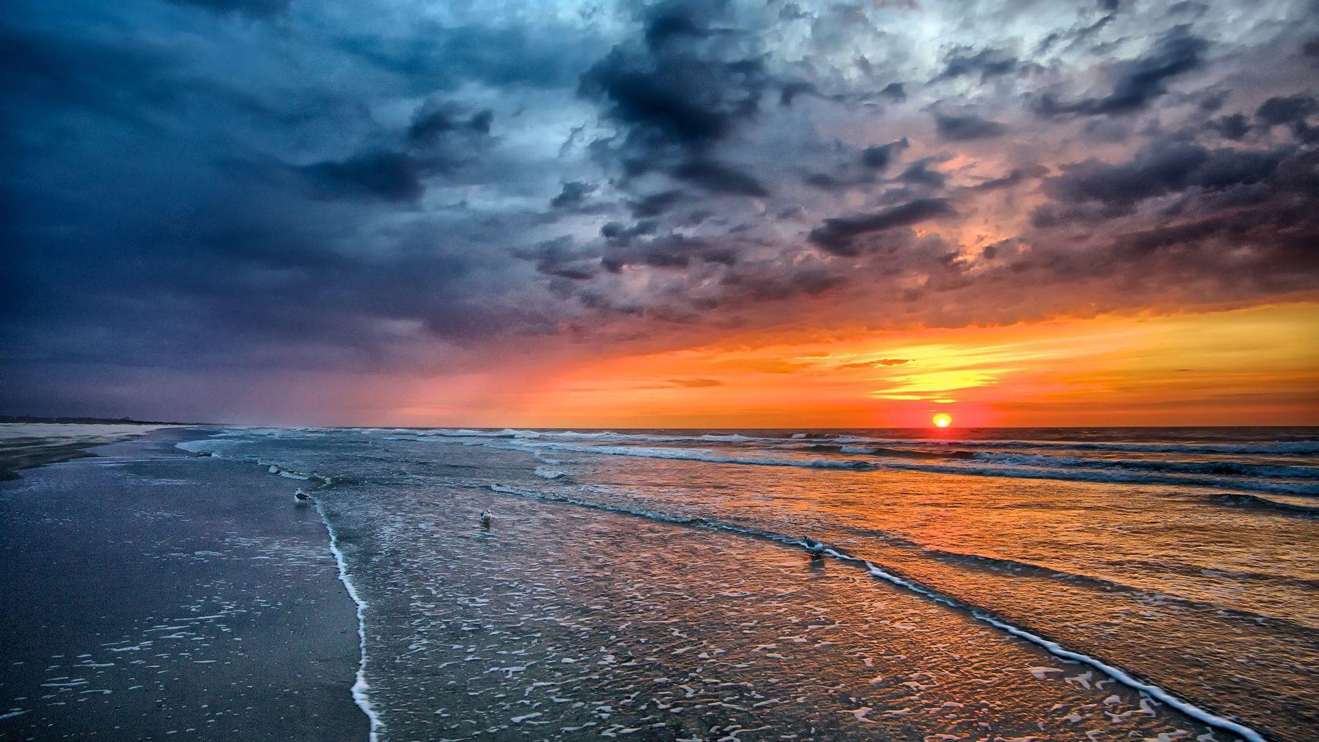Sea Sunrise Sunrise Wallpaper Landscape Scenery Sunrise Background