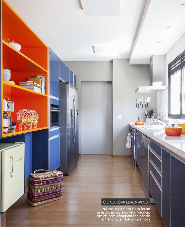 Blue And Orange Kitchen #decor #colors #orange