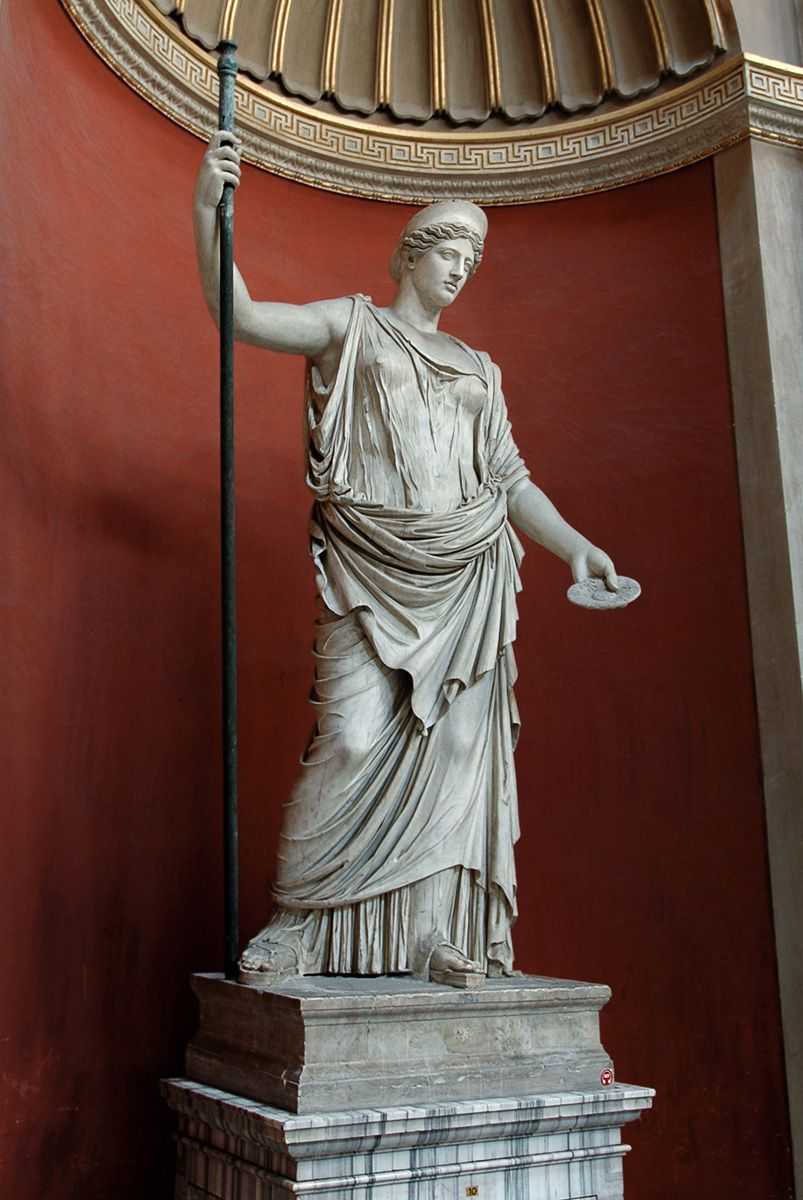 Statue of Hera Barberini. Marble. Roman copy after a Greek model of the late