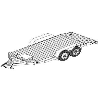 Trailer Blueprints Model 1218 8ft X 18ft Tandem Axle 7k Or 10 4k Utility Car Hauler Hd Trailer Diy Master Plan 19 How To Steps With Blueprint Trailer Plans Car Hauler Trailer Car Carrier