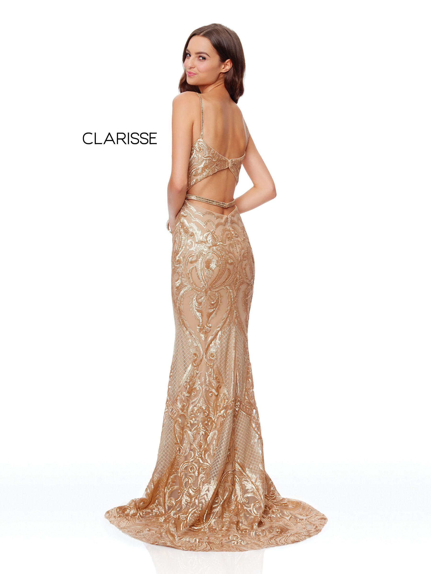 5057 - Gold sequin long prom dress  9ed95b91bbca
