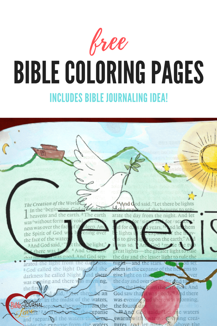 Free Bible Coloring Pages Bible Journaling Idea