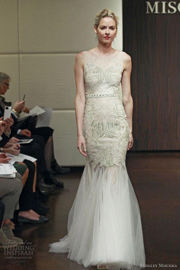 Badgley Mischka Bridal Fall 2013 Wedding Dresses | Mermaid gown ...