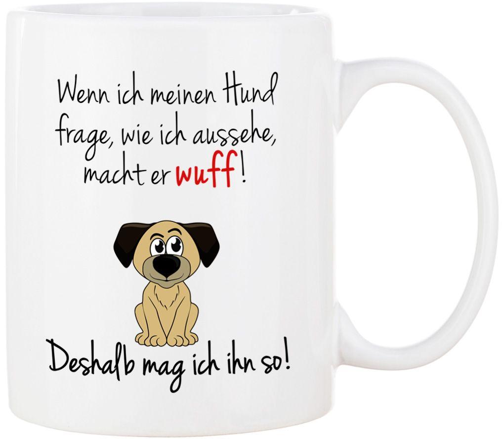 HUNDE Tasse mit Spruch DOOF FINDEN Kaffeetasse Bürotasse Sprüchetasse
