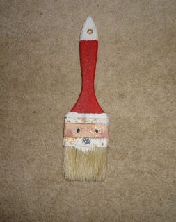 A simple chip brush made into an adorable Santa!