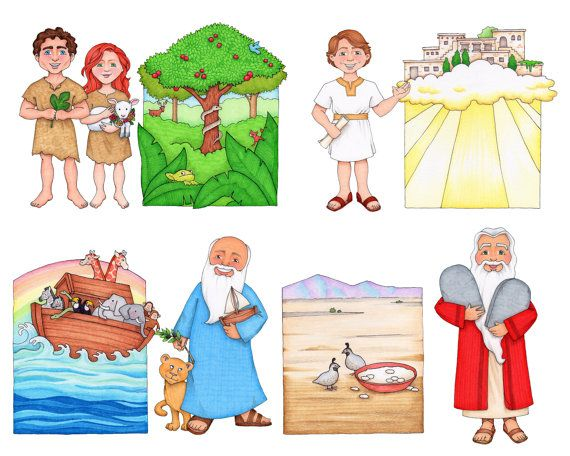 Digital clip art illustrations for the LDS primary song Follow the ...