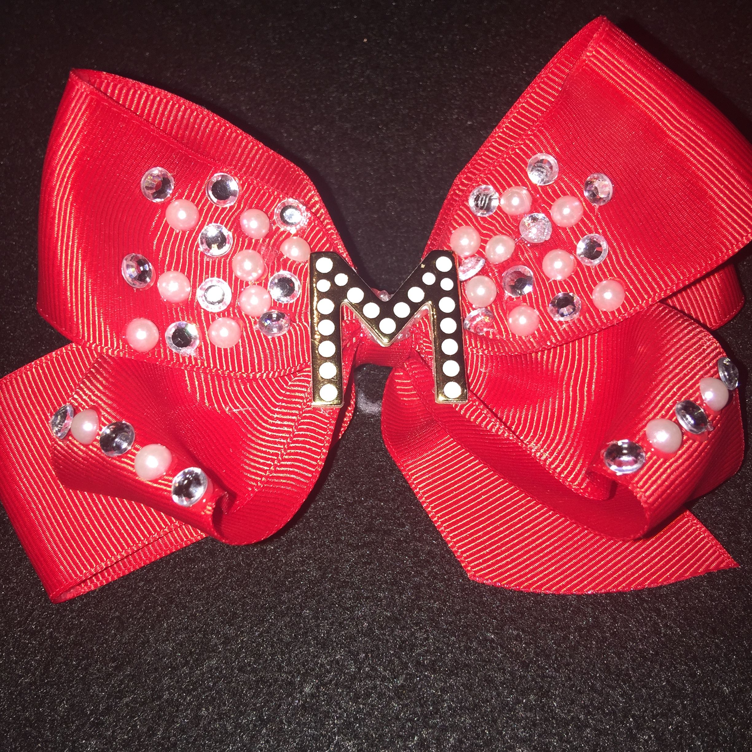 Diy Initial junk bow (All bows and headbands are custom made and inspired by my daughters)
