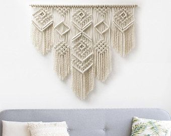 large macrame wall hanging macrame curtains macrame wall art macrame patterns wall. Black Bedroom Furniture Sets. Home Design Ideas