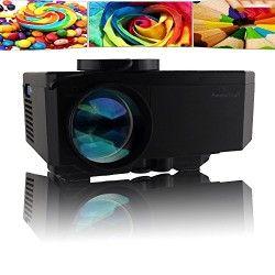 AomeTech New 100″ HD 150 lumens Hdmi Portable Mini LED Projector Home Cinema Theater Av VGA USB SD Miscro USB-Black