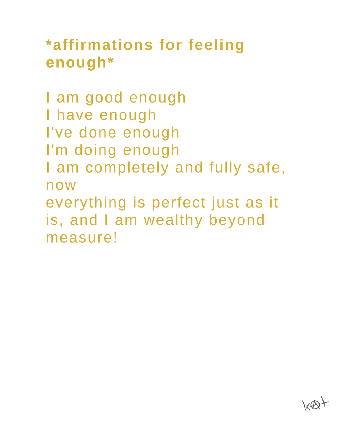 I Am Enough Affirmation Journal Manifestation