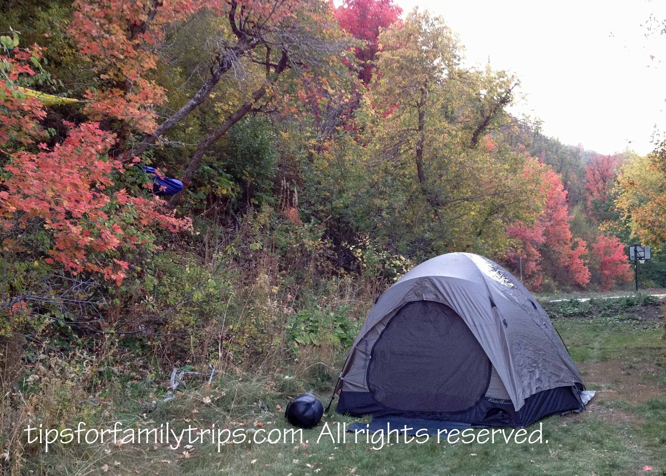 Camping among the fall leaves campingforbeginnersfamiliestips