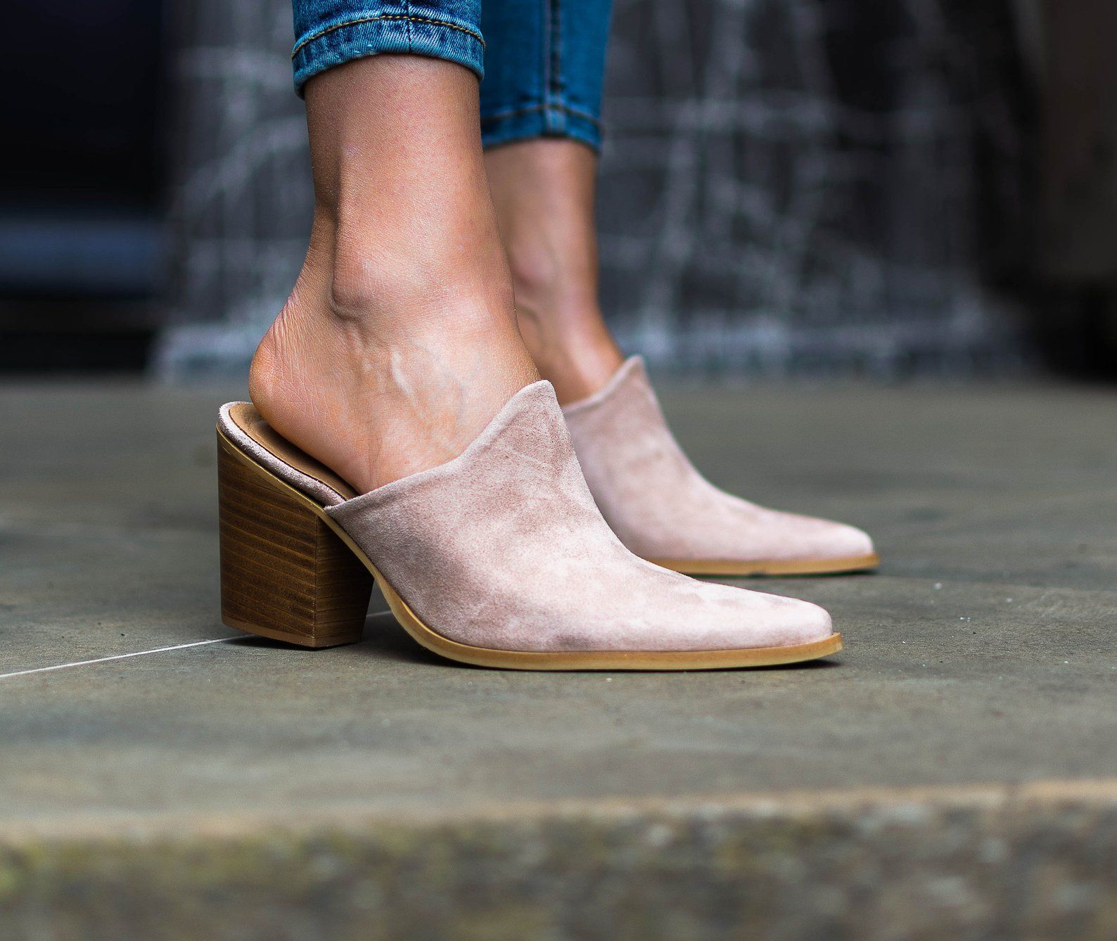 Suede mules, Leather sandals women