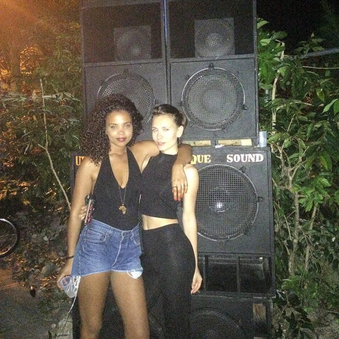 Girls out  soundsystem dancehall box speakers dance party jamaica club shorts jungle rum blackdress german night carribean love in my bones  by waterinmysoul 998155d2bf