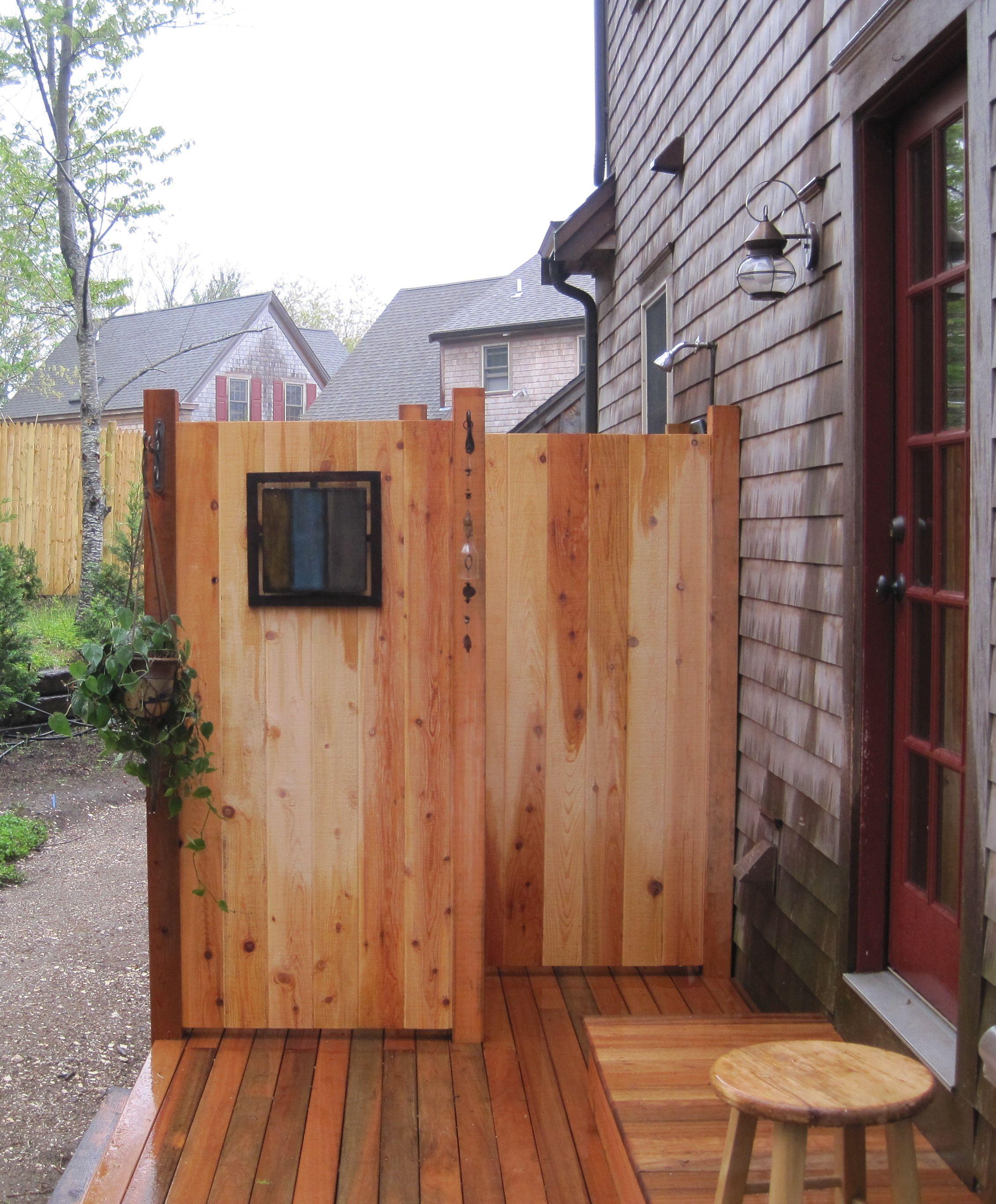 Mahogany Deck, Cedar Shower, Framing Was Recycled Pressure Treated Lumber