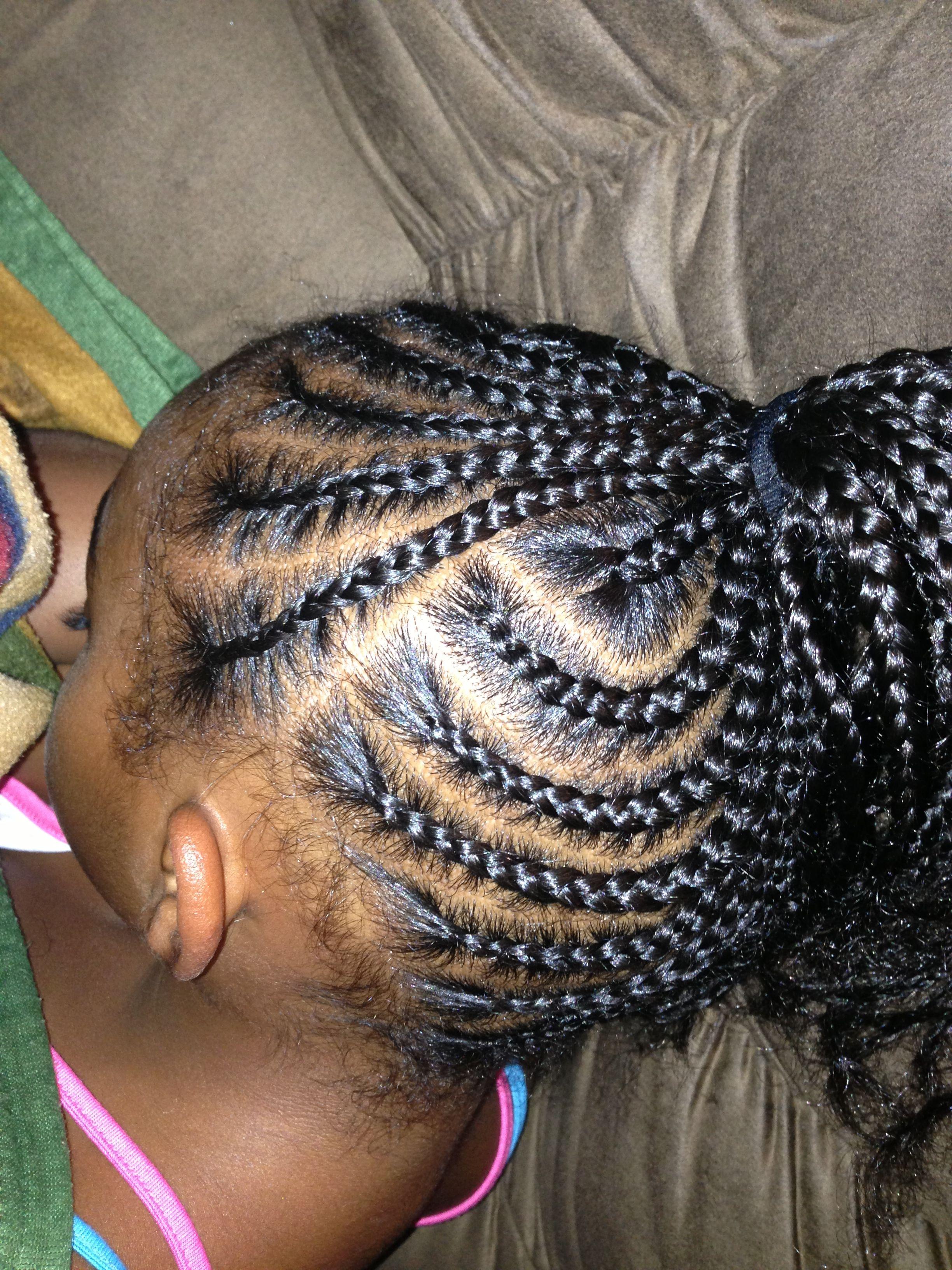 side pony hair styles little