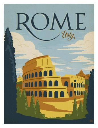 Striking City Posters Inspired By The Golden Age Of Poster Art Design Designtaxi Com Art Poster Design Italy Poster Rome Print