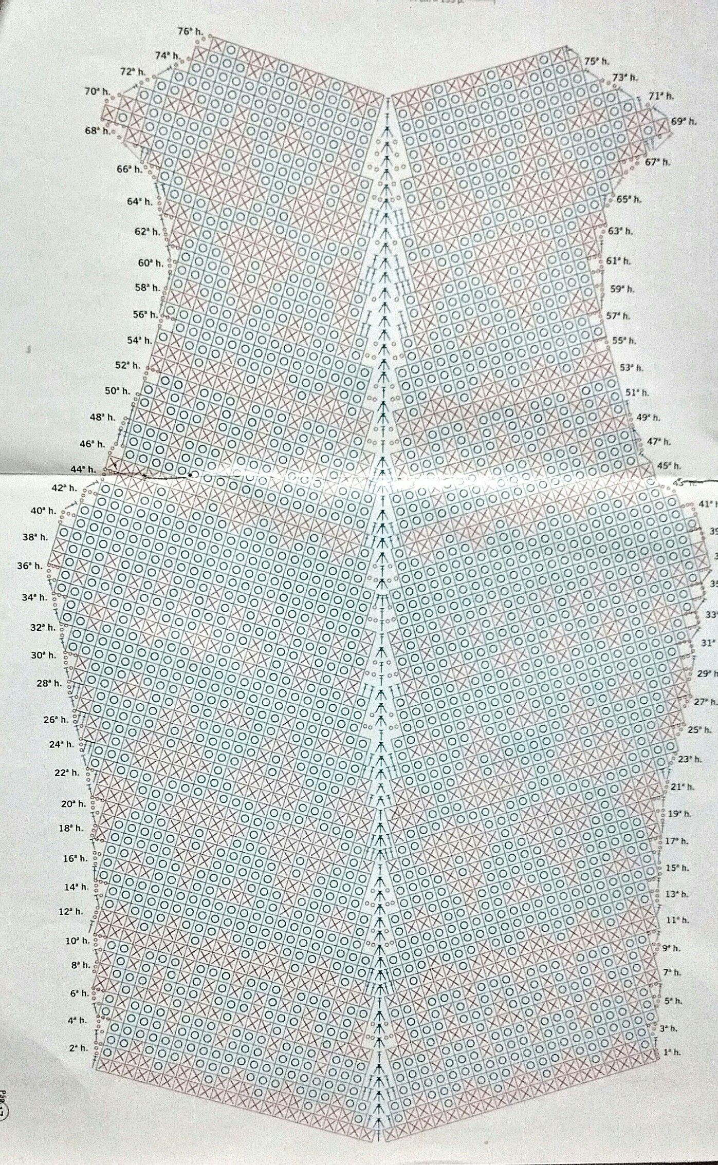 Musculosa crochet _espalda | Crochet | Pinterest | Musculosa y Espalda