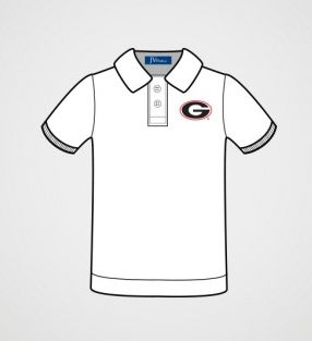 Georgia Boys' White Polo Shirt | JV Clothiers