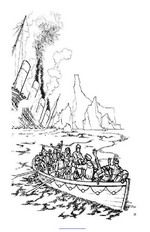 coloring page Titanic | Coloring pages, Titanic, Ship drawing