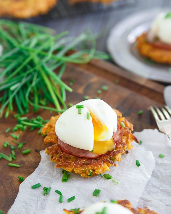 Sweet Potato Fritter Breakfast Sandwiches are delicious lower-carb option for breakfast!