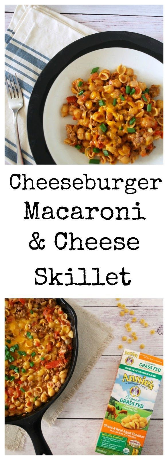 Cheeseburger Mac and Cheese Skillet is a family friendly meal that is ready in 30 minutes