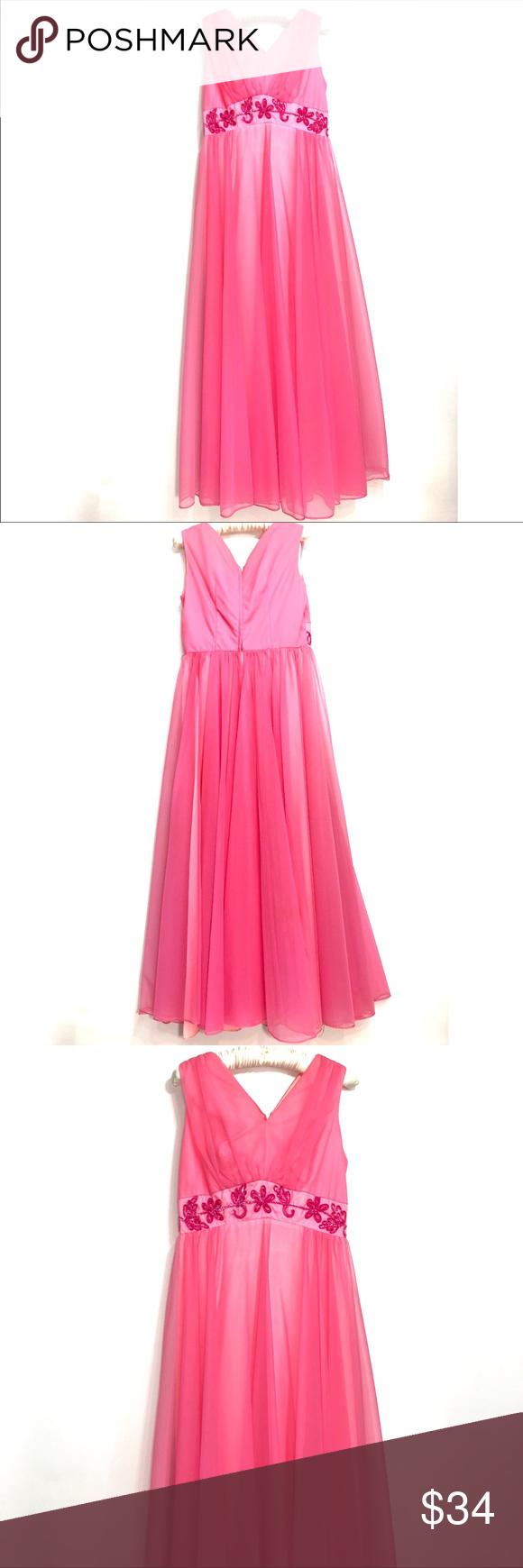 Vintage pink formal dress s my posh closet pinterest pink