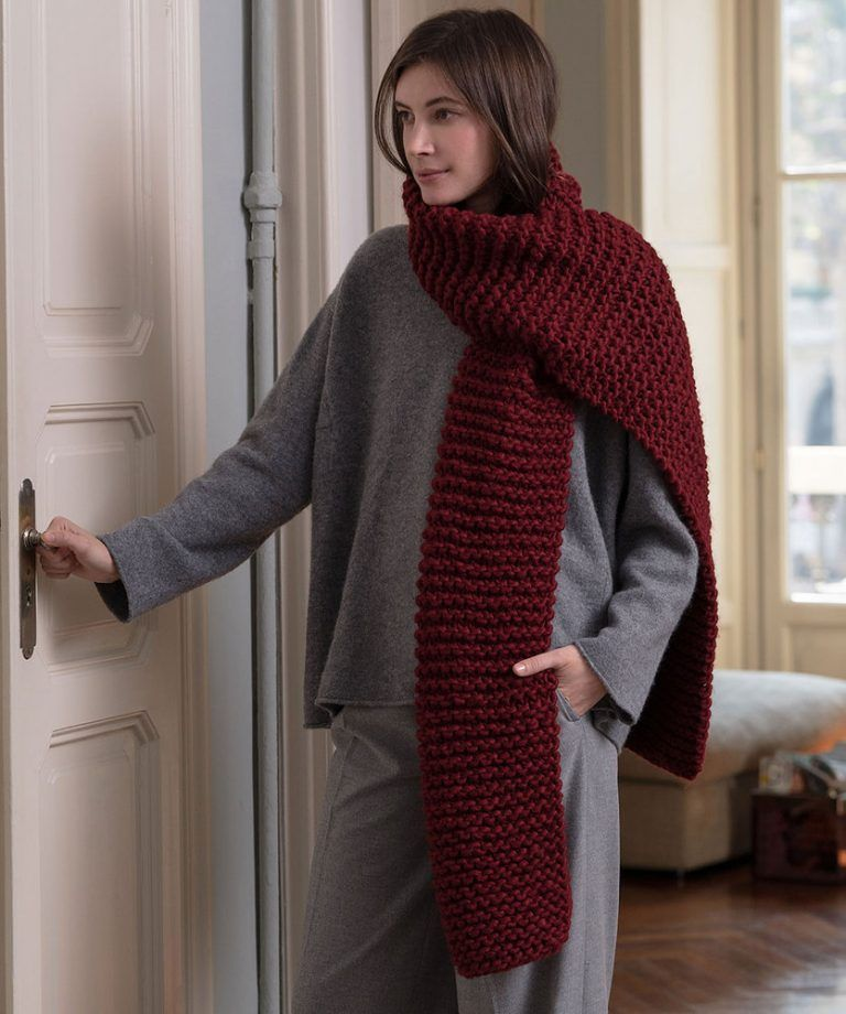 Free Knitting Patter for a Chunky Beginner Scarf   Chunky ...