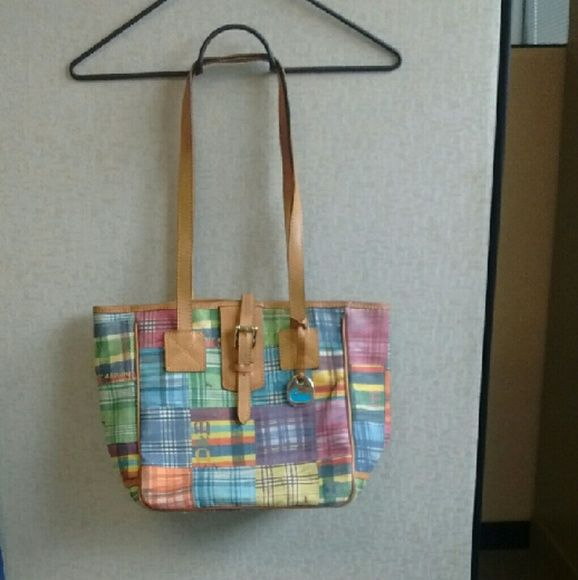 Dooney & Bourke 'Picnic' bag 'Picnic' patterned Dooney & Bourke bag. Measures 10Lx10Tx6W with12' handle drop. Dirty inside - open to offers using the offer feature only. Dooney & Bourke Bags