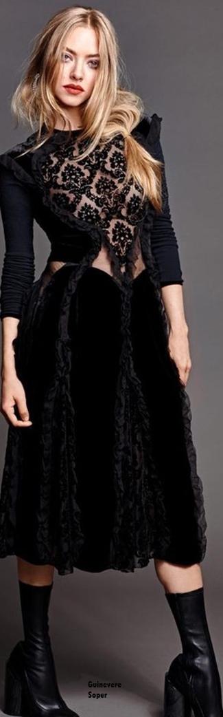 -AmandA Seyfried for Madame-Figaro-December-2015 by Thomas Nutzl,