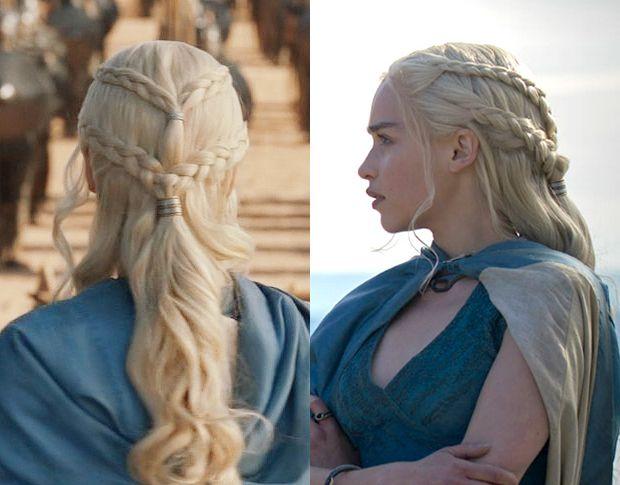 daenerys from 39 game of thrones 39 hair tutorial hair pinterest frisur. Black Bedroom Furniture Sets. Home Design Ideas