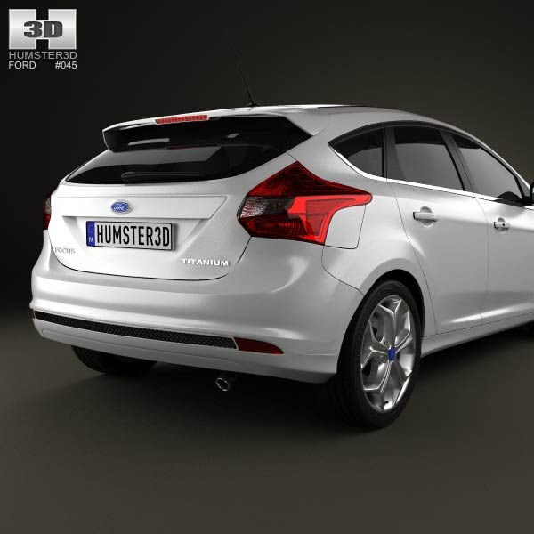 3d Model Of Ford Focus Hatchback Titanium 2012 Com Imagens