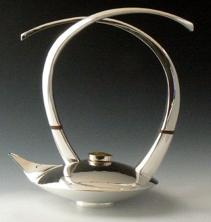 Embrace Bi-lateral Teapot by Maureen and Michael Banner