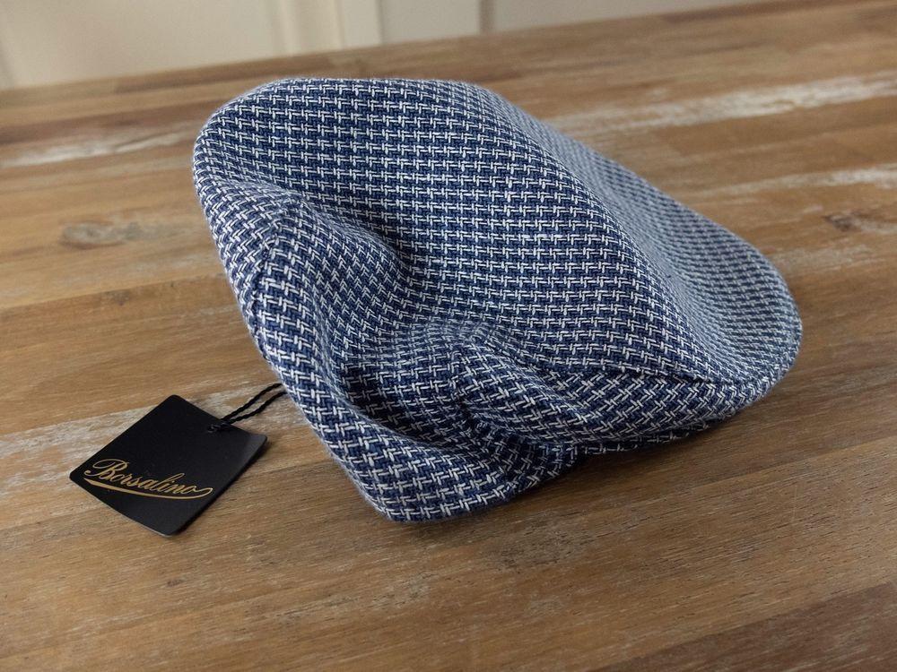 BORSALINO 2018 linen cotton mix flat cap authentic - Size 58   Medium - NWT    dcf53121a688