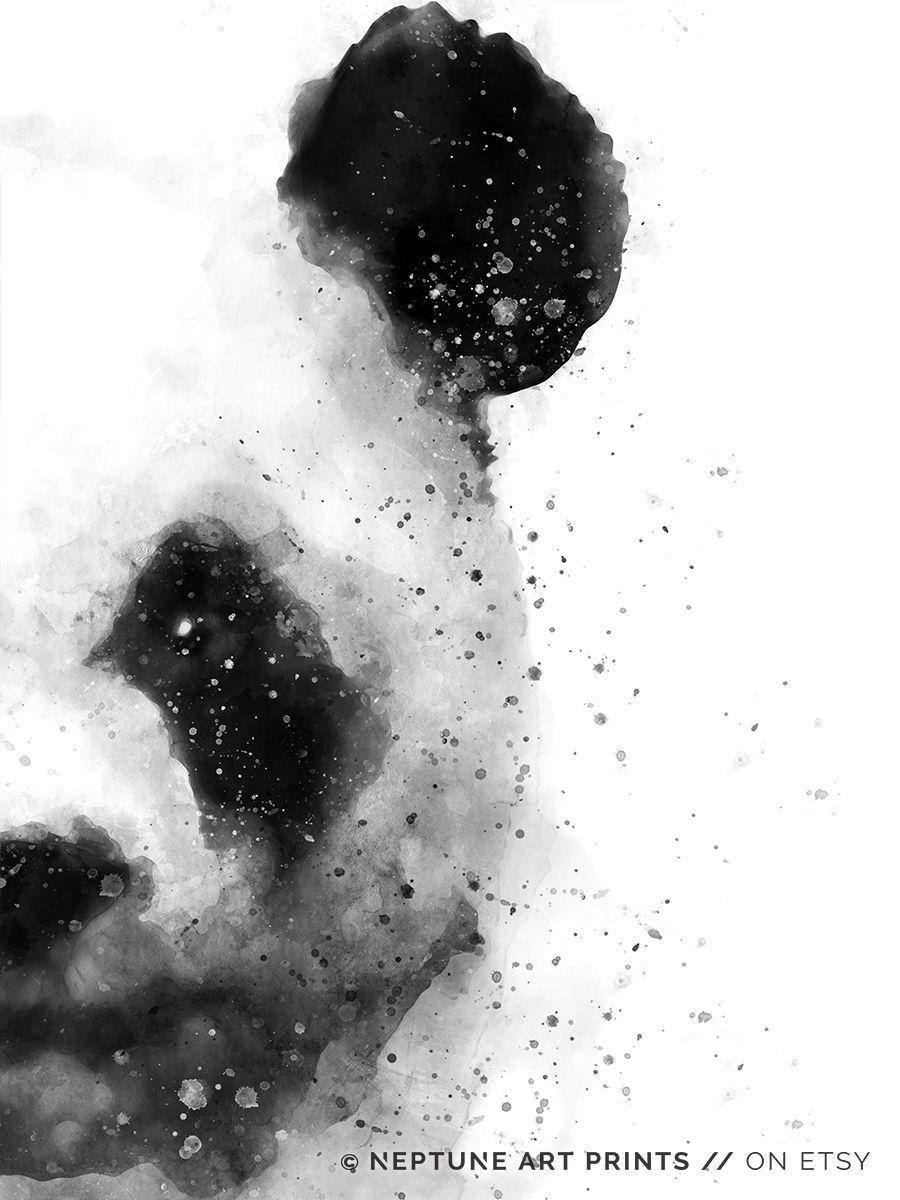 Panda Watercolor Printable, Panda Painting, Abstract Animal, Woodland Wall Art, Modern Print, Home Decor, Minimalist Poster Digital Download - #abstract #animal #painting #panda #printable #watercolor - #DesignTips