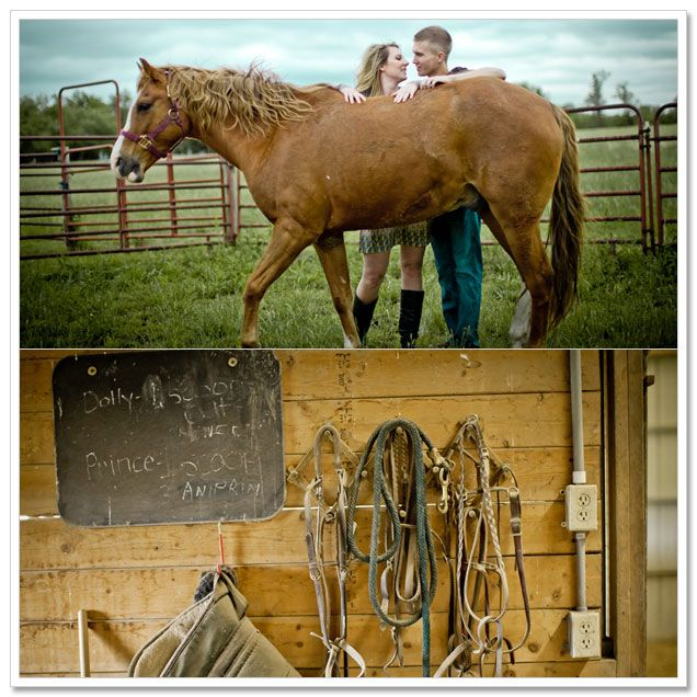 {real couple} Lisa + Alex's Kansas Farm Engagement | Artfully Wed