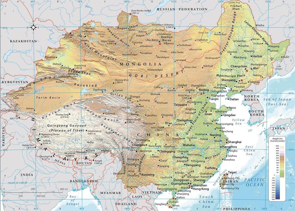 china mongolia and taiwan physical map China Mongolia And Taiwan China Map Mongolia Map china mongolia and taiwan physical map