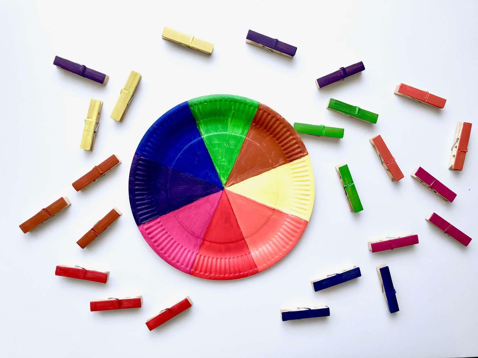 Diy Farbsortierspiel Farben Spielerisch Lernen Farben Sortieren Farben Lernen Projekt Farben Kindergarten