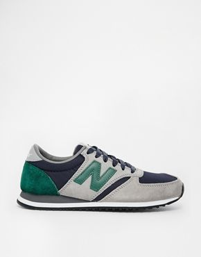 08b00afcbeb6 New Balance 420 Suede Mesh Grey and Green Trainers