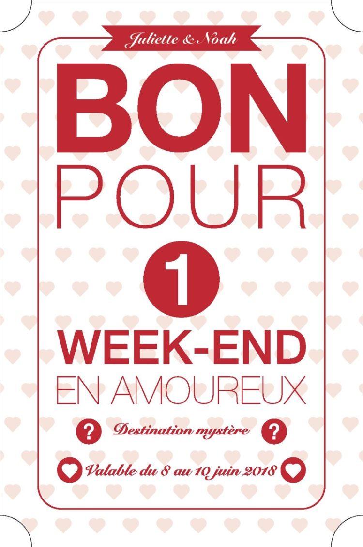 Carte Cadeau Week End Amoureux.Exemple De Bon Cadeau Pour Un Week End En Amoureux
