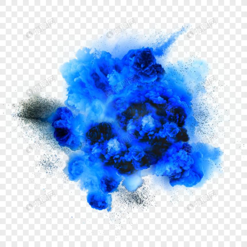 Creative Blue Explosion Smoke Design Creative Blue Explosion Smoke Aesthetical Blue Gray Smoke Explosion Bomb Explosion Smoke Design Design Blue Abstract