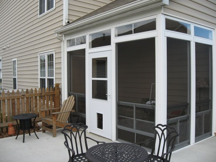A Screen Porch With Retractable Eze Breeze Windows And A Doggy Door Is An Ideal Outdoor Space For Screened Porch Screened Porch Designs Eze Breeze Windows