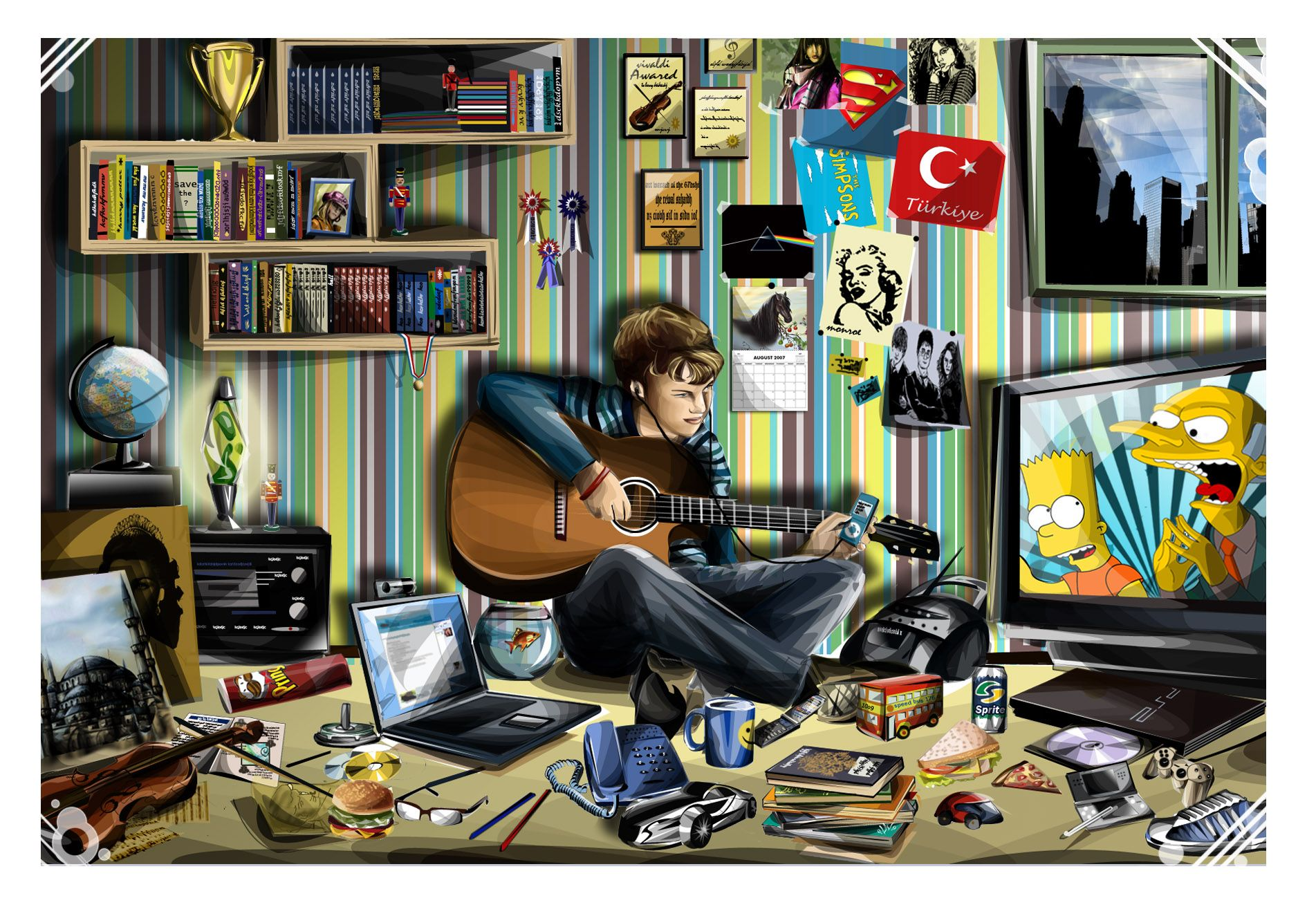 Image result for cartoon images of guy in a messy room
